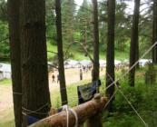 Widok na obóz z komendantówki